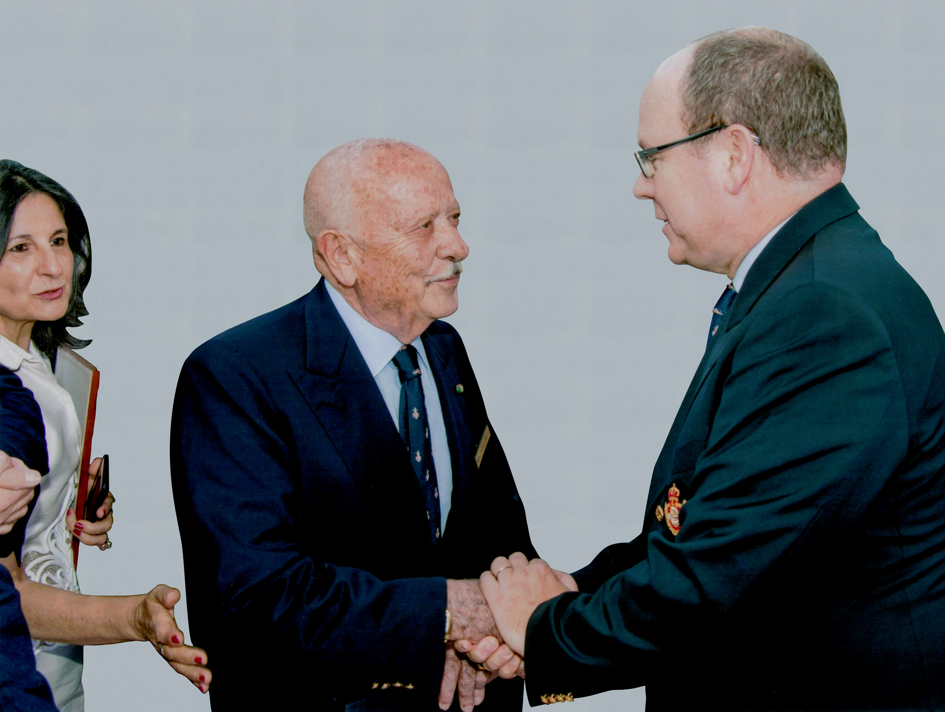 E.B. con Sua Altezza Reale il Principe Alberto di Monaco