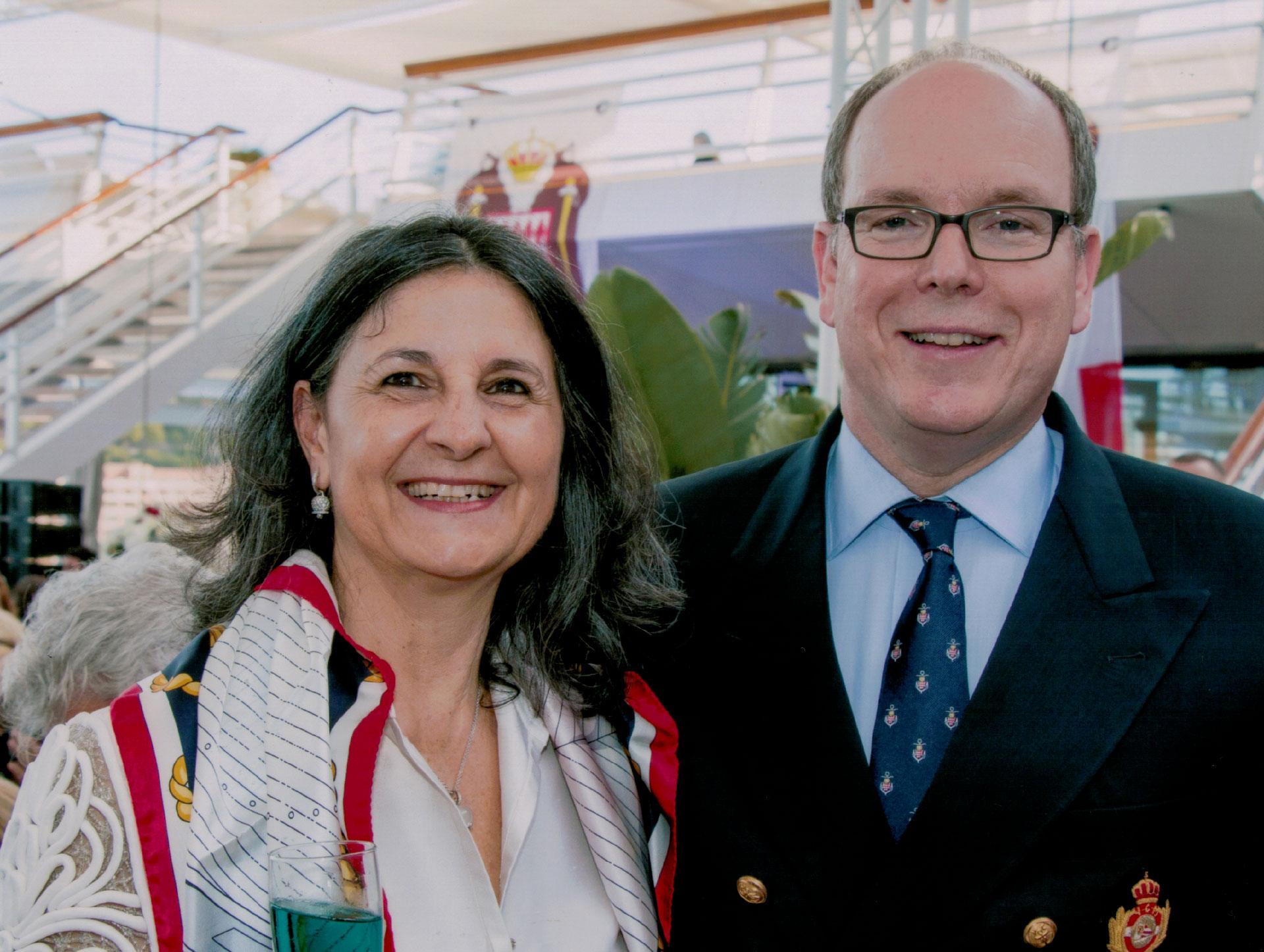 Anna Maria Benedetti con Sua Altezza Reale il Principe Alberto di Monaco