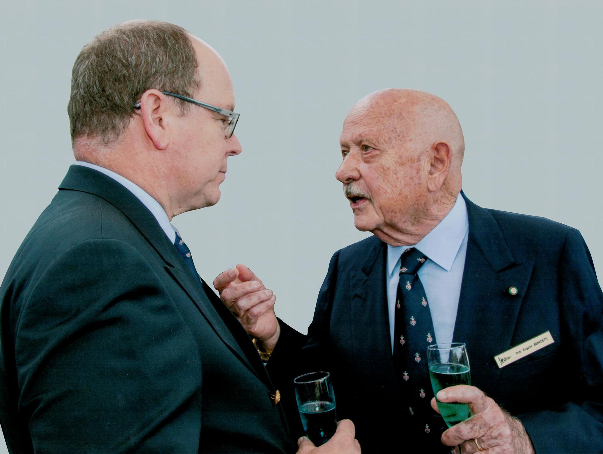 Eugenio Benedetti con Sua Altezza Reale il Principe Alberto di Monaco